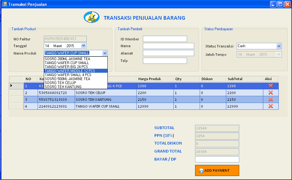 Menampilkan Data Database Ke ComboBox