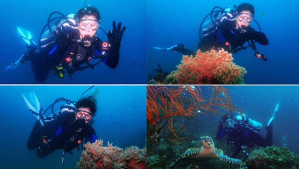 Luis Manzano decides to post underwater shots he's taken after Angel Locsin posted her few underwater shots on Instagram