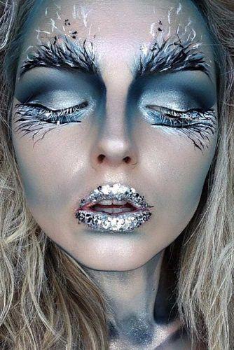Idées maquillage halloween originaux reine glace neige