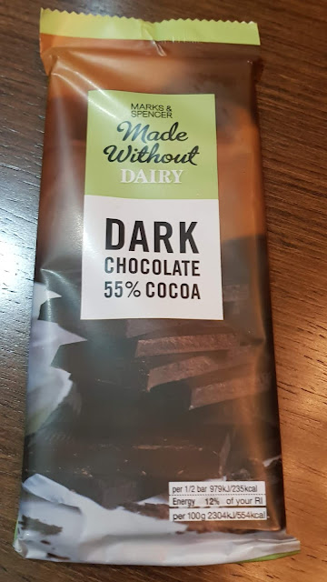 A bar of dairy free dark chocolate from M&S
