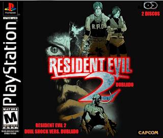Jogo Resident Evil 2 PS1 Dublado - Dual Shock Ver. CD Capa