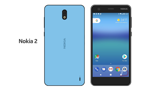 [Update: Here's the Rear] Nokia 2 Front Shows Up in a Leaked Sketch