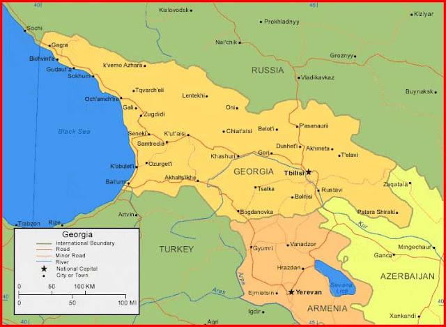 Gambar Peta Georgia