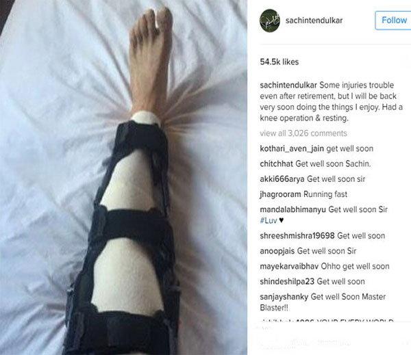 सचिन तेंदुलकर के घुटने का हुआ ओपरेशन