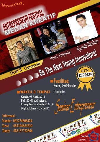 Entrepreneur Festival Medan Creative di Digital Library UNIMED