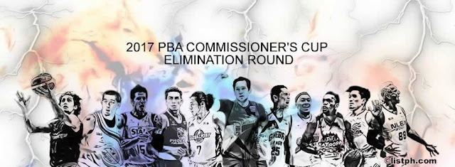 List of 8 Remaining Games Elimination Round 2017 PBA Commissioners' Cup