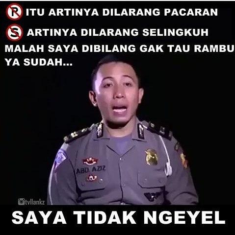 Meme Kocak Polisi Tilang Sopir Taksi 'Saya Tidak Ngeyel' Ini Dijamin Bikin Ngakak