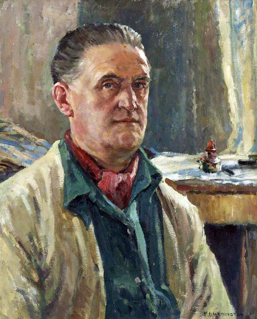 Frank Waddington, Self Portrait, Portraits of Painters, Fine arts, Portraits of painters blog, Paintings of Frank Waddington, Painter  Frank Waddington
