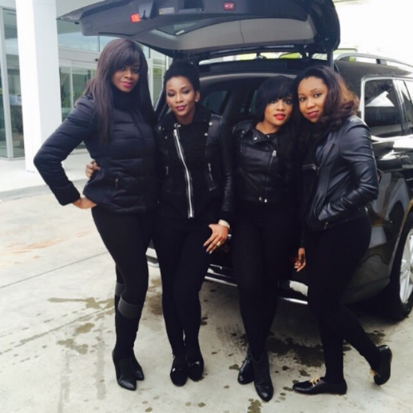 Actress Genevieve Nnaji and Friends Slay in Black Outfits