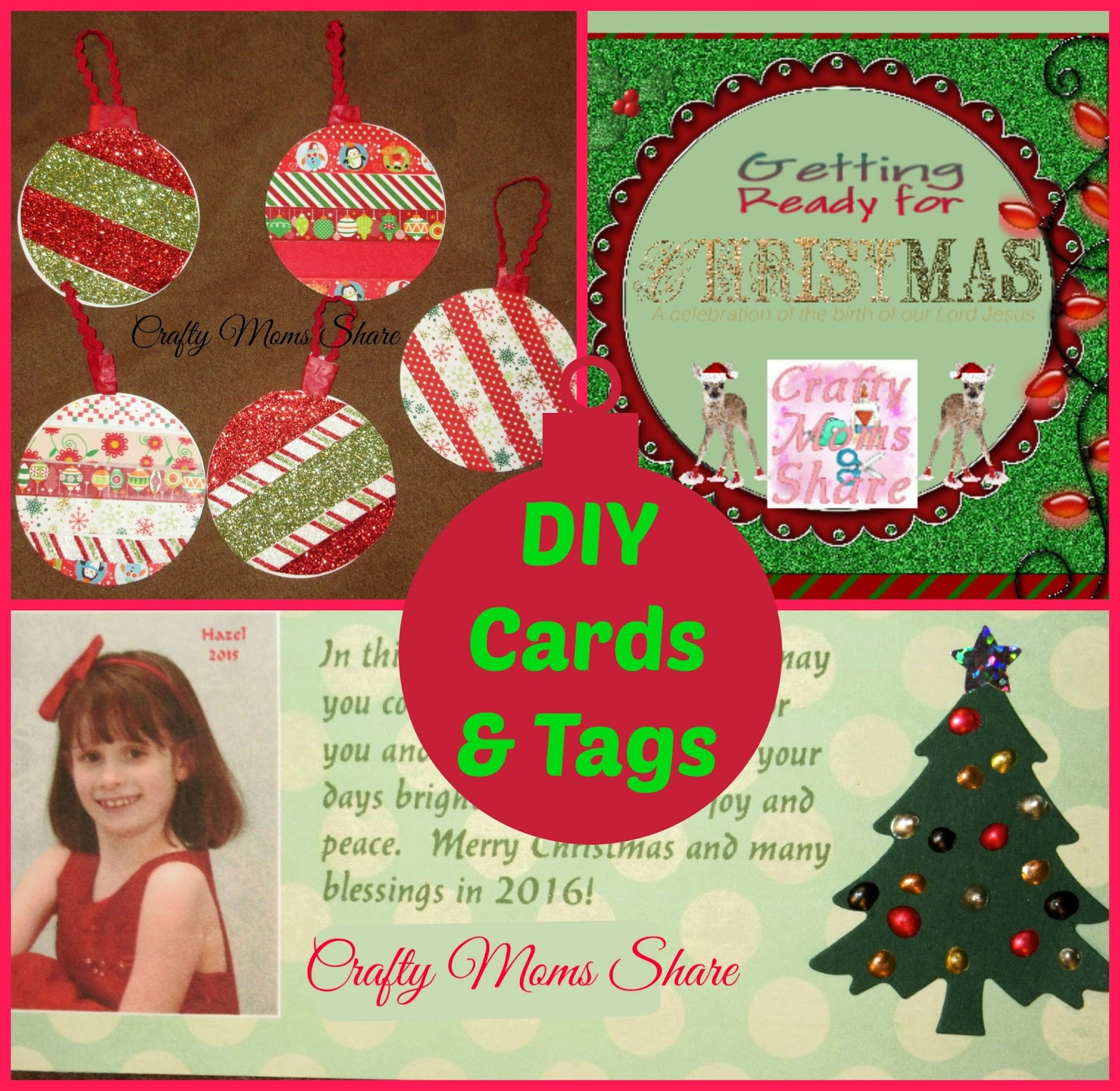 Crafty Moms Share: DIY Christmas Cards & Gift Tags