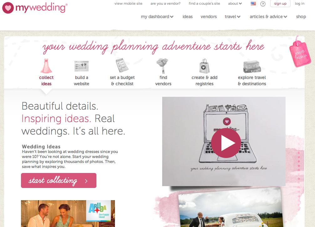 using mywedding.com