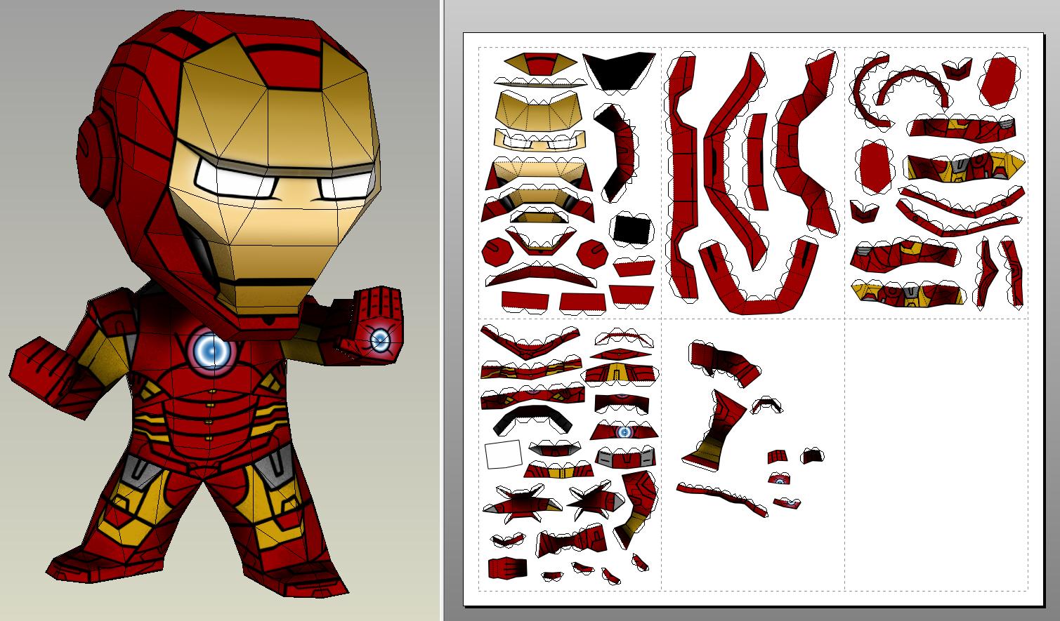 iron man foam armor templates - paperwar iron man 20cm version lp