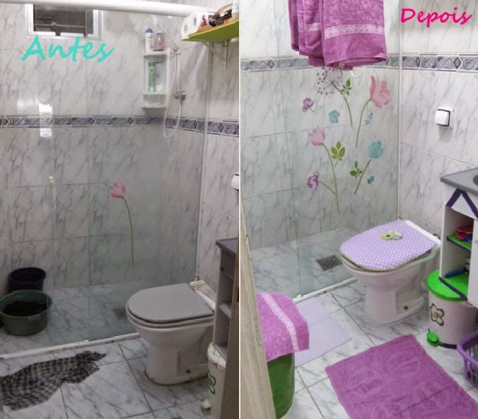 Decoração de Banheiro Simples e Barato! # Decoracao De Banheiro Pequeno E Barato