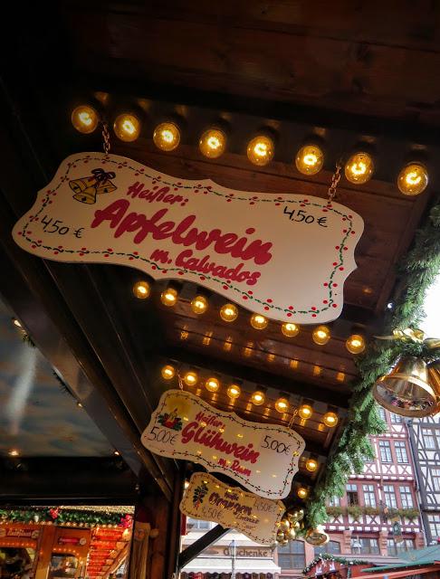 Apfelwein sign at the Frankfurt Christmas Market