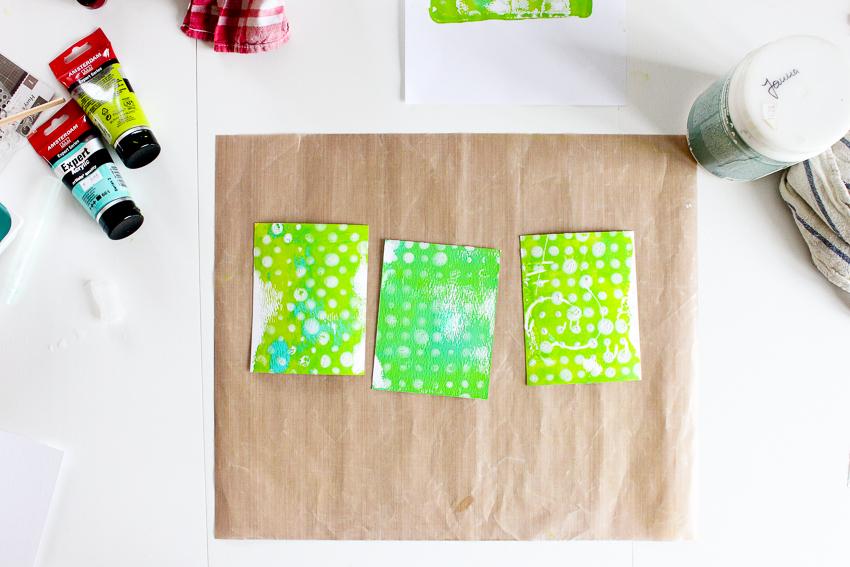 Gelli Plate Printing - erste Schritte und Erfahrungen - Janna Werner