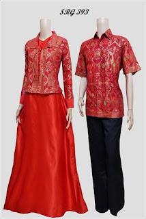 Model Gamis Batik Kombinasi Bolero Terbaru