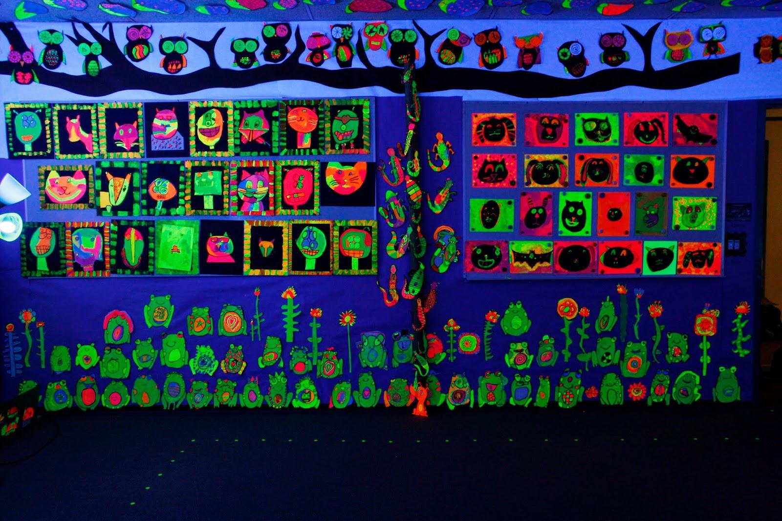 Black Light Art Show