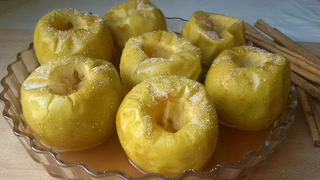 Manzanas al microondas