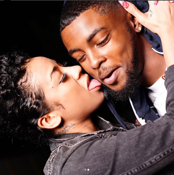 Keyshia Cole, 36, packs on the PDA with her 22-year-old beau as she licks his face in new loved-up photos