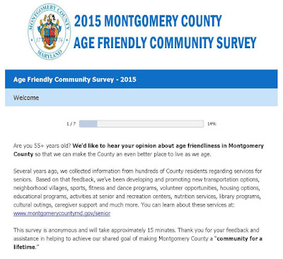 2015 Montgomery County Age Friendly Community Survey
