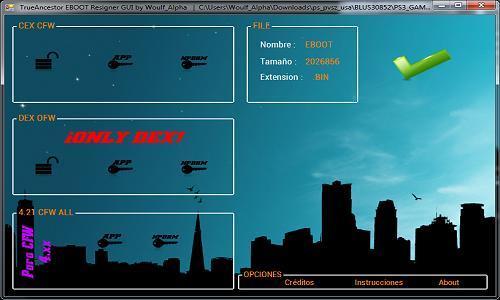 PS3 TrueAncestor EBOOT Resigner GUI by Woulfe_Alpha Released