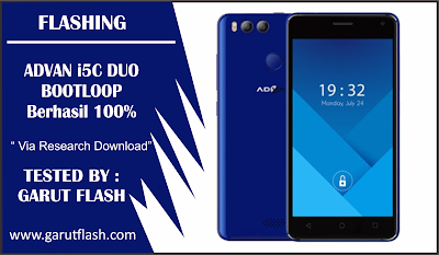 Cara Flash Advan I5C Duo Bootloop Via Research Download Berhasil