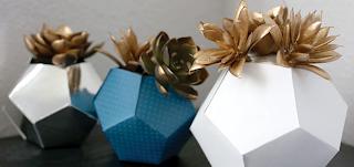Origami Kağıt Saksı Yapımı