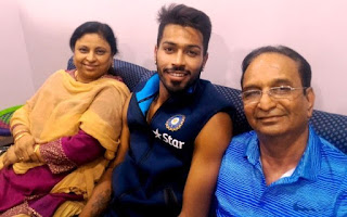 Hardik Pandya's parents