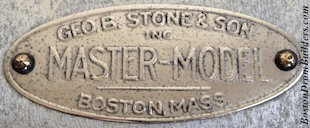 George B. Stone & Son Master-Model Drum Badge