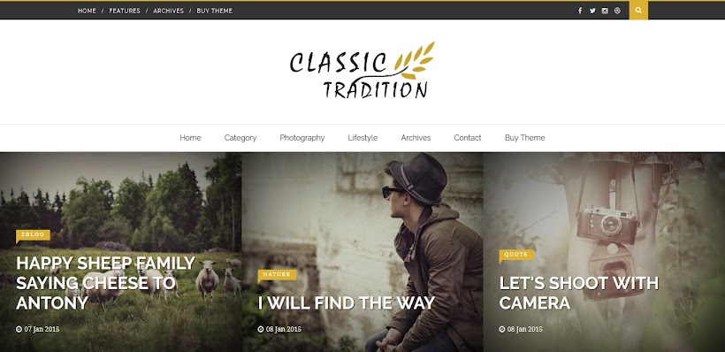 Classic Tradition Free Blogger Template