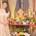 Actress  Hrishitaa Bhatt celebrated her first GANESH CHATURTHI post marriage with much grandeur