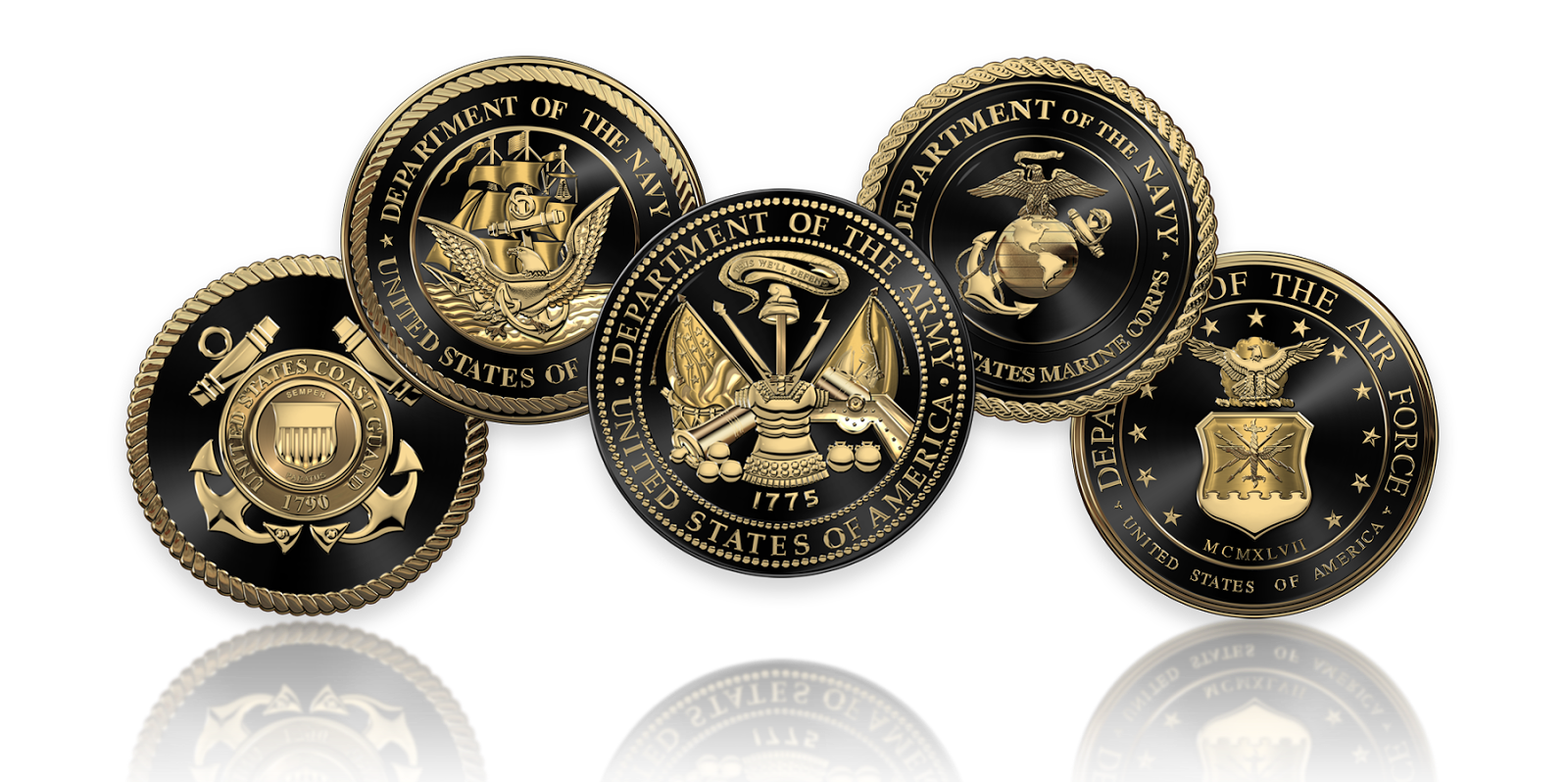 Military Insignia 3D : U S  Armed Forces - Service Branches