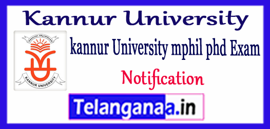 Kannur University M.Phil PHD Notification 2017-18 Application Form