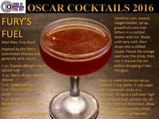 Oscar Cocktails 2016 Mad Max: Fury Road Fury's Fuel
