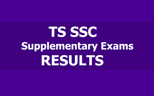 TS SSC Supplementary Exams Results