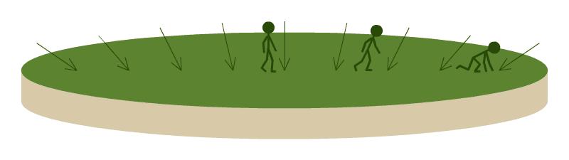 Gravedad en una Tierra plana