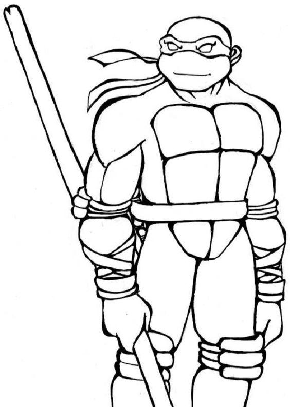 Tranh tô màu Ninja rùa 6
