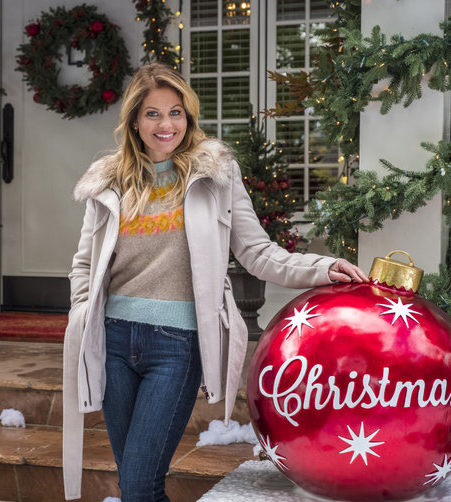 candace cameron bure on the set of switched at christmas image courtesy hallmark crown media - Candace Cameron Christmas Movies