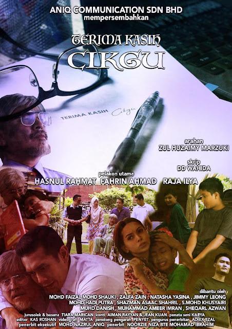 Telemovie Terima Kasih Cikgu Lakonan Hasnul Rahmat, Fahrin Ahmad, Raja Ilya