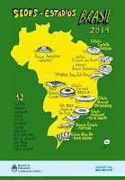 lámina sedes y estadios mundial Brasil