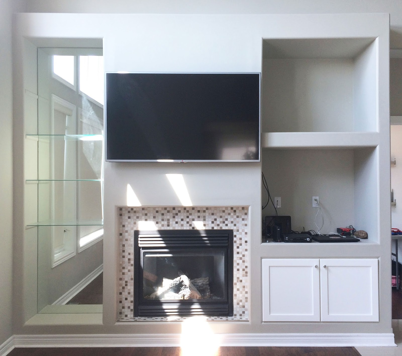 Fireplace Cabinet Makeover - Plans and Progress   Harlow & Thistle ...