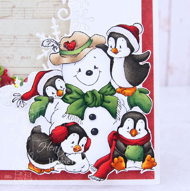 Heather's Hobbie Haven - Penguins Build a Snowman Card Kit