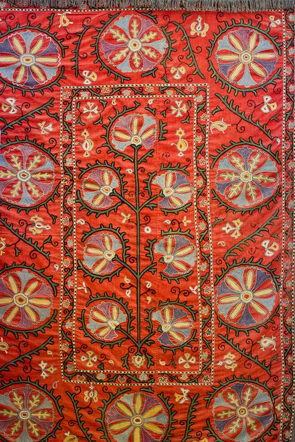 Carpet with pomegranate design