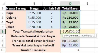 Fungsi Rumus Statistik Pada Microsoft Excel