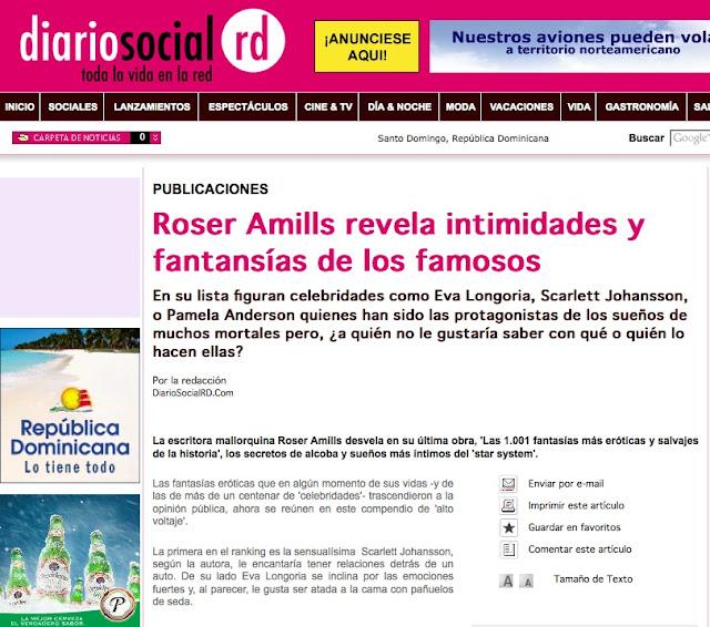 Diario Social RD | Roser Amills revela intimidades y fantansías de los famosos