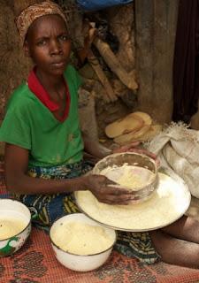Making Ugali.