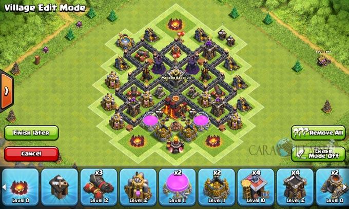 pertahanan terbaik untuk base war th 6 di clash of clans 12