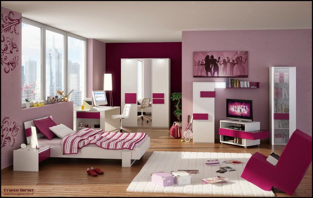 Ide Warna Cat Interior Dinding Dan Furniatur R Tidur Anak Perempuan Yang Cantik