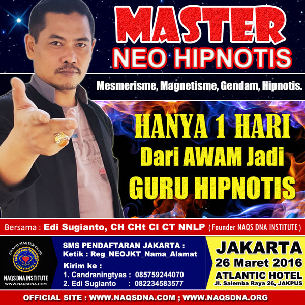 PELATIHAN GRAND MASTER HIPNOTIS SUPER LENGKAP