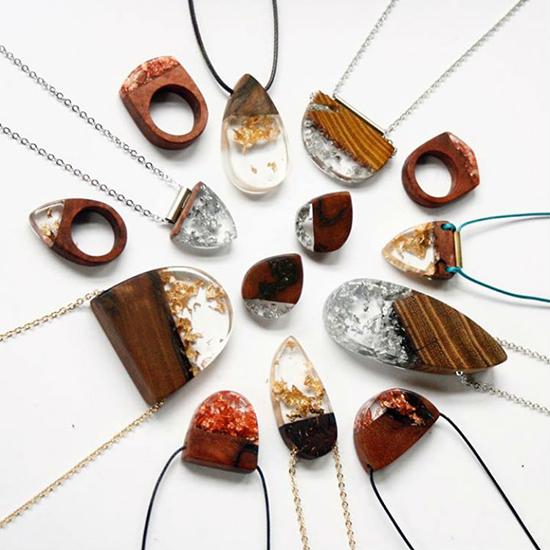 berbagai kerajinan tangan kalung unik dari epoxy resin
